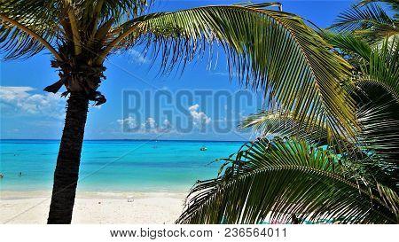 Beach In Front Of Gran Fiesta Americana Hotel In Cancun