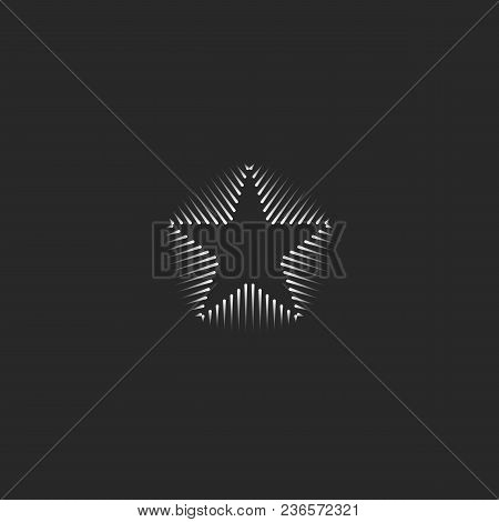 Linear star logo vector photo free trial bigstock linear star logo business card template hipster black and white minimal shape for web design reheart Choice Image