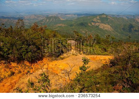 National Park Of La Gran Piedra, Big Rock In The Sierra Maestra Mountain Range Near Santiago De Cuba