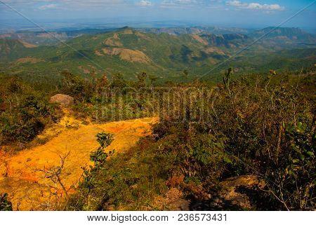 National Park La Gran Piedra, Big Rock, Sierra Maestra, Santiago De Cuba, Cuba: Top View Of The Beau