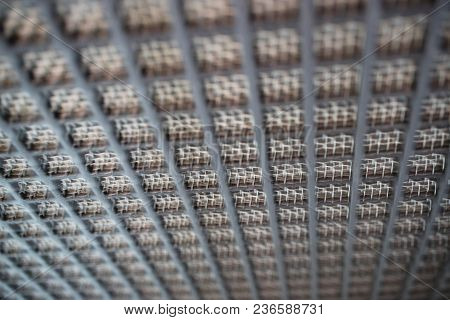 Small And Large Cell Metal Mesh Background, Outgoing Lines