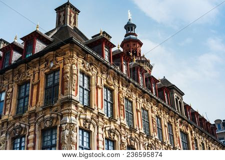 Renaissance stock exchange in Old Town Lille, France