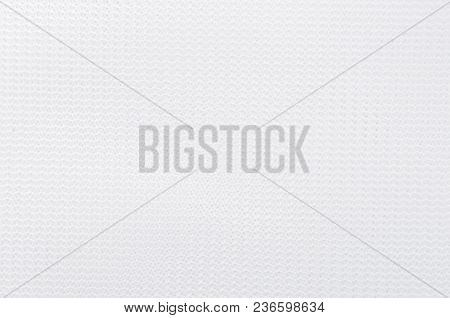 Close Up Of White Textured Synthetical Background