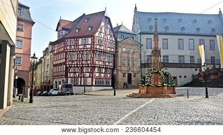 A Small And Typical Square In The City Center Of Berlin - Germany