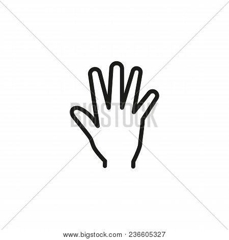 Open Hand Line Icon. Palm, Arm, Help. Gesturing Concept. Can Be Used For Topics Like Assistance, Cha