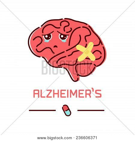 Alzheimer's Disease Cartoon Poster