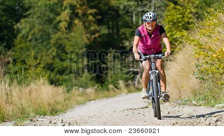Mountain biking  - woman on bike