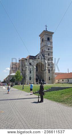Alba Iulia, Romania, July 22, 2017: Interior Of Citadel, Alba Iulia Fortress Complex,transylvania,ro