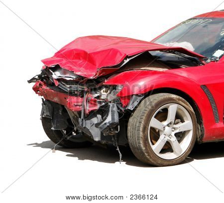 auto accident truck hit right front ! poster