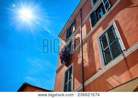 Rome, Italy - May 17, 2017: Rome, Italy - May 17, 2017: Generic Picturesque Roman Building On The St