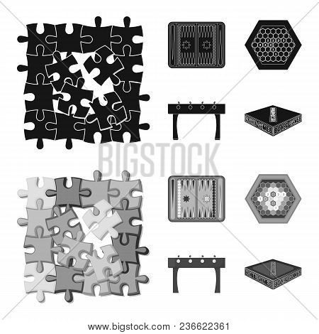 Board Game Black, Monochrom Icons In Set Collection For Design. Game And Entertainment Vector Symbol
