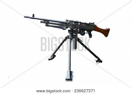 General Purpose Machine Gun Over White Background