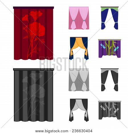 Cornices, Garters, Ribbon And Other  Icon In Cartoon, Monochrome Style.machine, Textiles, Furniture