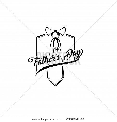 Happy Fathers Day Greeting Card. Necktie, Tie. Dads Holiday Gift. Vector Illustration