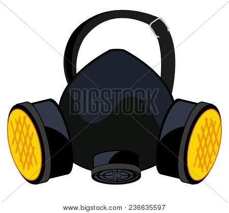 Respirator For Protection From Bad Material.vector Illustration