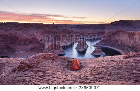 Reflection Canyon Sunrise, Lake Powell, Utah