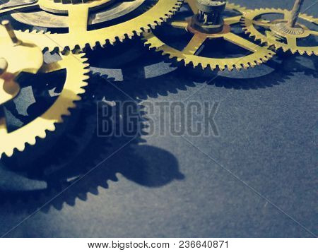 Clock gears and cogs