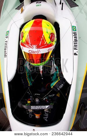 April 06, 2018 - Avondale, Arizona, USA: Pietro Fittipaldi (19) hangs out on pit road during qualifying at the Desert Diamond West Valley Casino Phoenix Grand Prix at ISM Raceway in Avondale, Arizona.