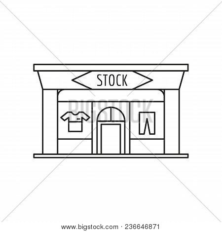 Stock Store Front Icon. Outline Stock Store Front Vector Icon For Web Design Isolated On White Backg