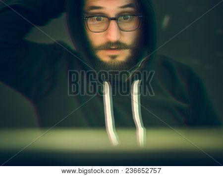 Beard man in a hoody