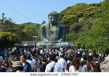 This Image Of The Great Buddha Of Kamakura Was Captured In Kamakura, Japan On May 4, 2013.