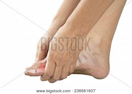 Foot Bones Pain White Background Foot Injury