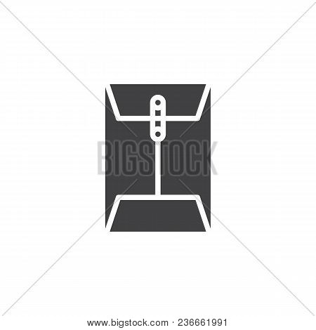 Message Paper Document Clip Vector Icon. Filled Flat Sign For Mobile Concept And Web Design. Envelop