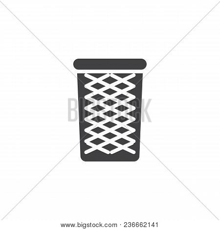 Wastepaper Basket Vector Icon. Filled Flat Sign For Mobile Concept And Web Design. Recycle Bin Simpl