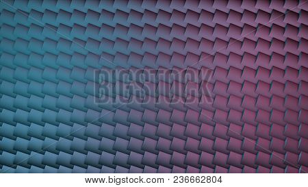 Abstract CGI motion graphics and animated background with squares. Abstract cubes are turning, 3d animation. poster