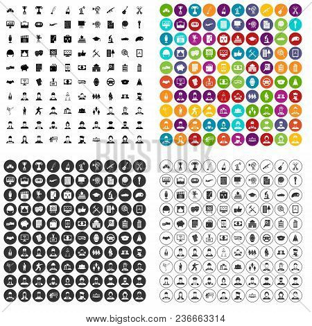 100 Career Icons Set Vector In 4 Variant For Any Web Design Isolated On White