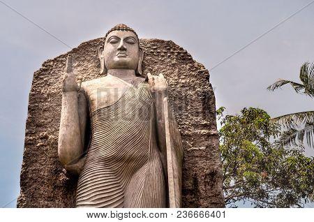 Colombo/sri Lanka - March 17 2018:  Replica Of Aukana Buddha Statue In Colombo.  Majestic Buddha Sta
