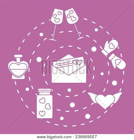 Romantic Symbols: Mittens, Hearts, Valentine's