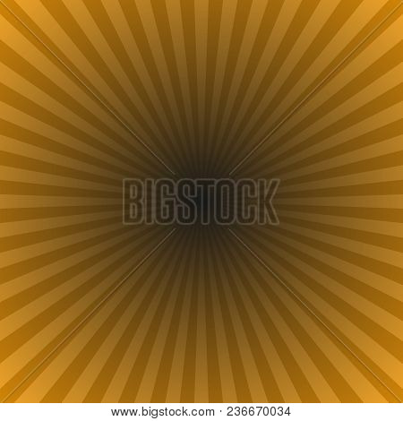 Brown Gradient Sun Ray Background - Hypnotic Vector Illustration From Striped Rays