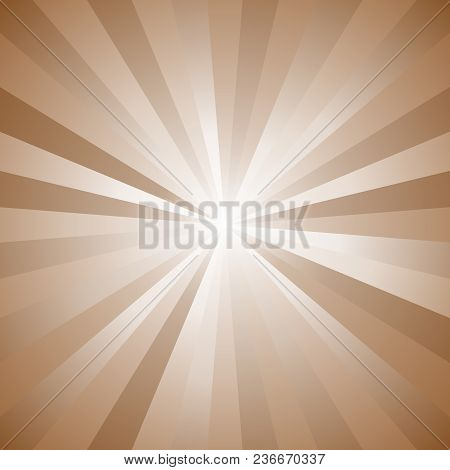 Abstract Gradient Sun Burst Background - Retro Vector Illustration With Radial Lines