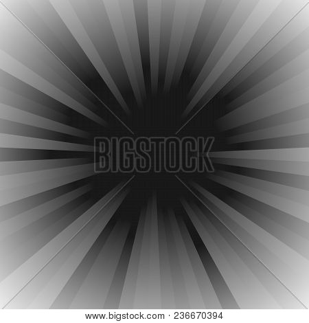 Gradient Abstract Ray Burst Background - Vector Graphic Design With Radial Striped Rays