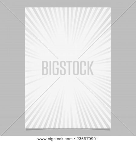 Abstract Explosion Design Brochure Template - Gradient Vector Stationery Background Graphic With Rad