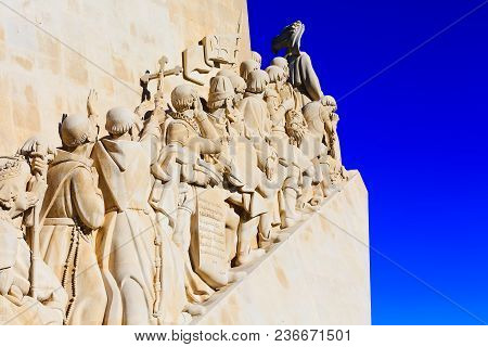 Lisbon, Portugal Landmark, Monument To The Discoveries Dedicated To The Portuguese Explorers