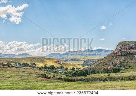 A Farm Landscape Along The R711-road Between Fouriesburg And Clarens In The Free State Province Of S