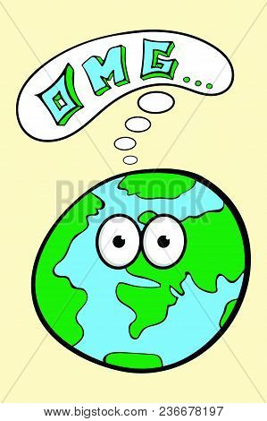 The Embarrassed Mother Earth With Big Eyes