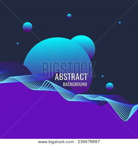 Bright Abstract Background With A Dynamic Waves Of Minimalist Style. Vector Illustration For Website