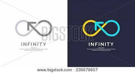 Line Sign Of Infinity. Vector Illustration In Flat Syle