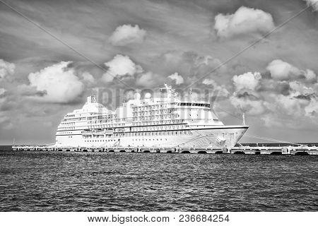 Luxury Cruise Ship At Port Of Cozumel