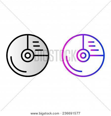 Cd Drive Icon. Vector Illustration In Two Styles