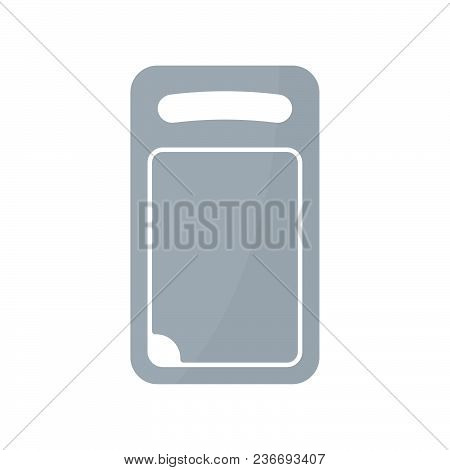 Plastic Cutting Board Isolated On White Background. Kitchen Tools. Simple Flat Icon. Vector Illustra