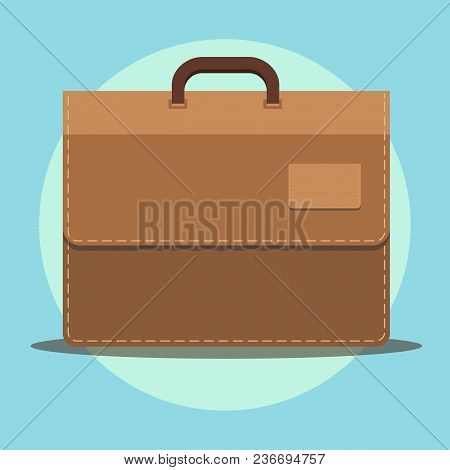 Flat Icon Briefcase. Business Icon. Vector Illustration