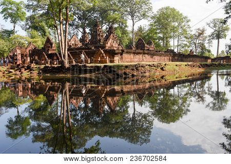 Banteay Srei Temple At Siem Reap In Cambodia.