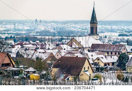Saint Matrin Church In Kintzheim, A Village In Bas-rhin - Alsace Region Of France