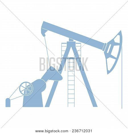 Stylized Icon Of The Equipment For Oil Production On A White Background