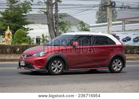 Chiang Mai, Thailand -march 22 2018: Private Car, Mg3 Product From British Automotive. Photo At Road