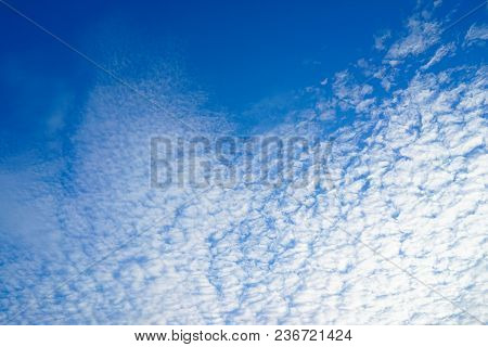 Beautiful Blue And White Sky , Blue Sky With Cloud , Concept Background.